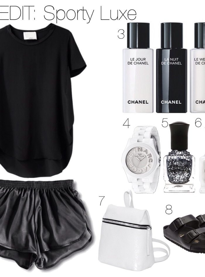 Monochrome Sporty Outfit Idea
