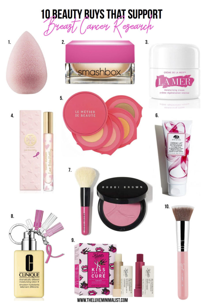 10 Beauty Products to Buy This Month in Support of Breast Cancer Research
