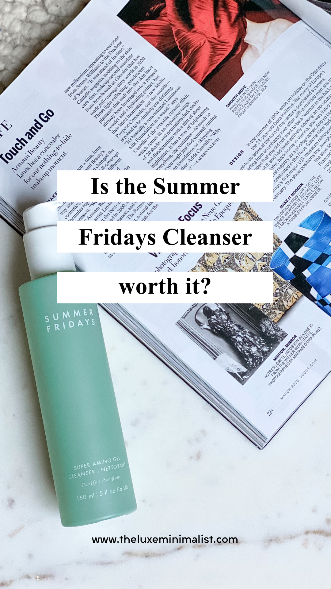 Summer Fridays Super Amino Gel Cleanser Review