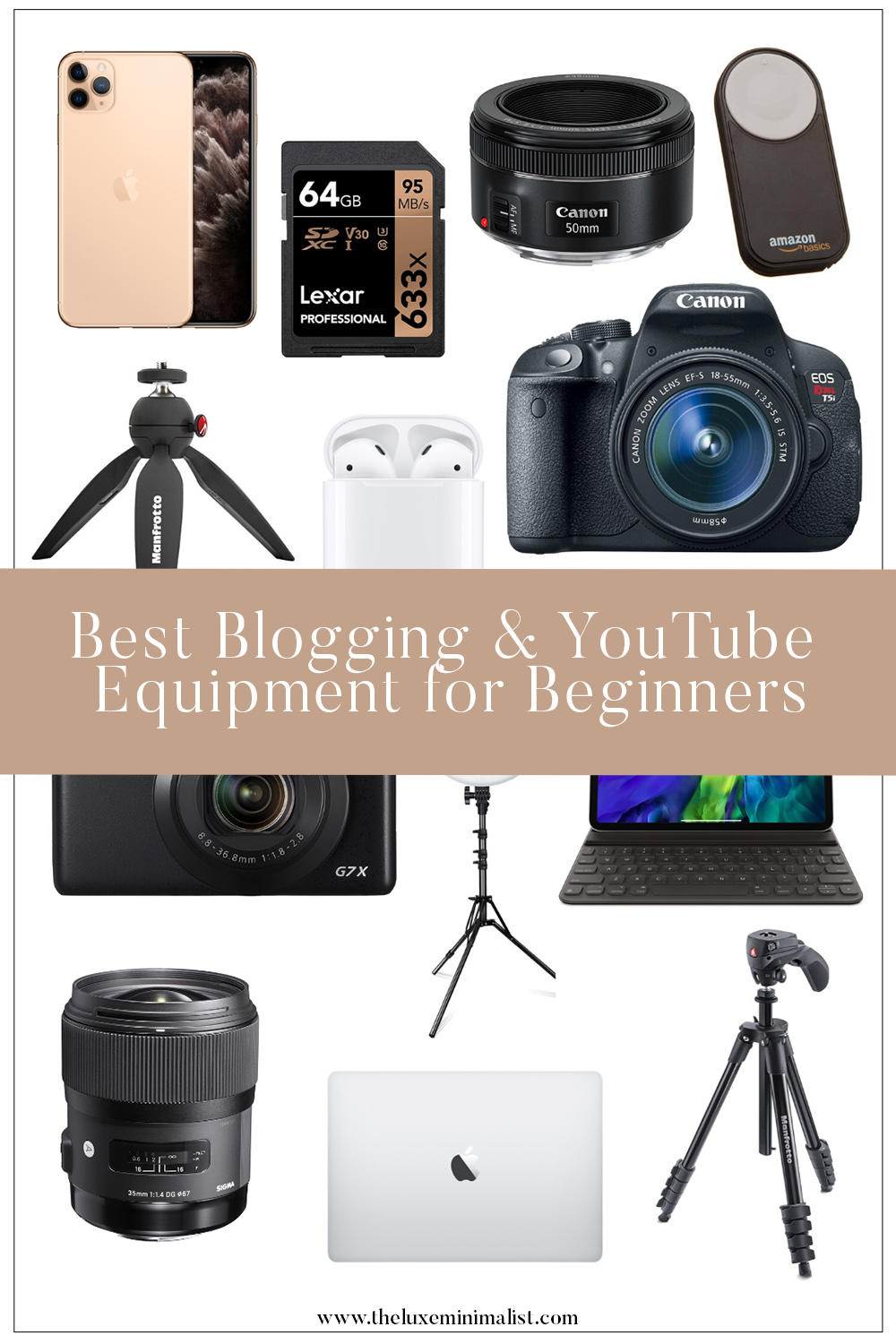 Best Blogging & YouTube Equipment for Beginners