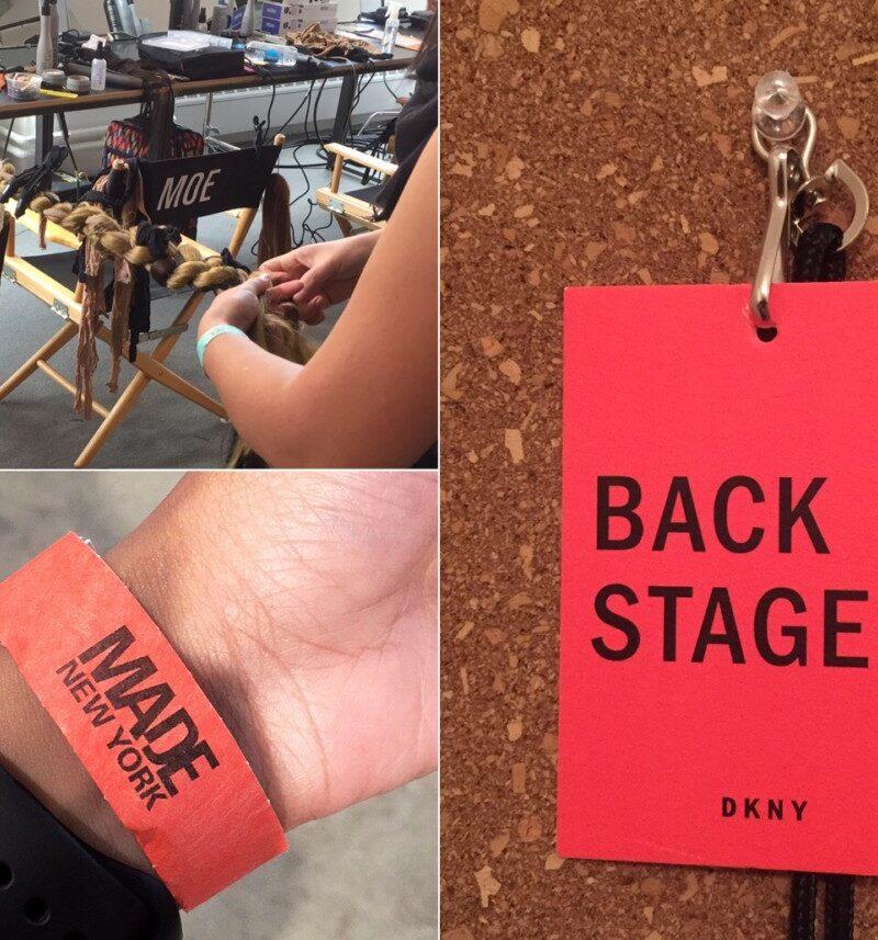 Backstage NYFW